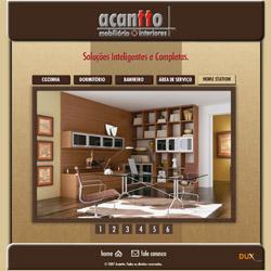 1ª versão do site institucional, com vitrine dos produtos animada em Flash