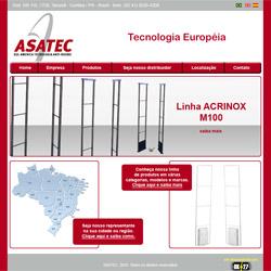 site institucional, com galeria de produtos