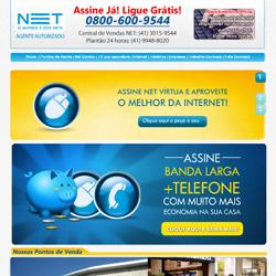 site comercial, com sistema de montagem de pacotes