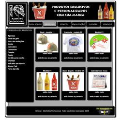 site dinâmico, portfólio virtual com sistema de orçamento on-line