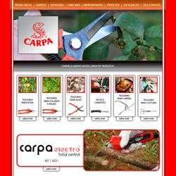 site institucional com catálogo de produtos