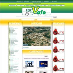 portal de serviços e anúncios dividido por cidades