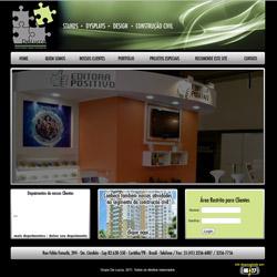 Site institucional com galeria de fotos e projetos