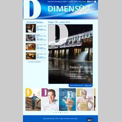 site institucional, com revista on-line