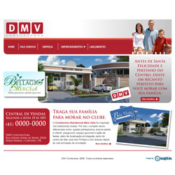 site dinâmico, institucional