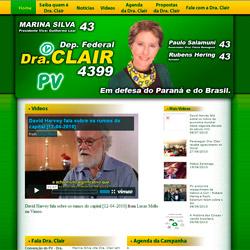 site dinâmico - candidada a Dep. Federal