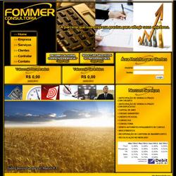 site institucional com venda de serviços on-line