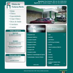 site institucional, com sistema de atualização