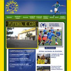 site dinâmico, portal de informações, com calendário de eventos