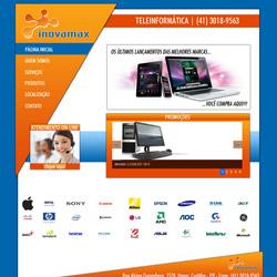site institucional com sistema de promoções