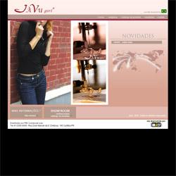 site institucional, com catálogo virtual de produtos