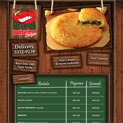 site dinâmico, com tabela de preços