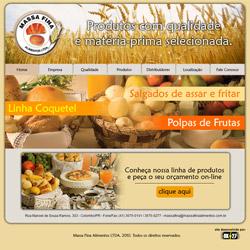 site comercial com galeria de produtos