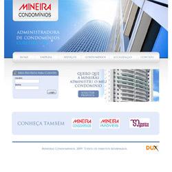 site institucional, com área restrita para clientes