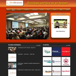 Site institucional com conteúdo dinâmico