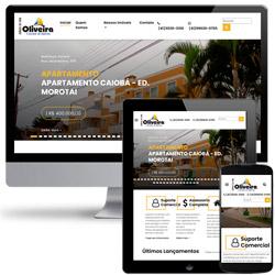 site comercial de Imobiliária