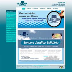 site institucional, com lista dinâmica de cursos