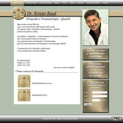 site pessoal de médico ortopedista