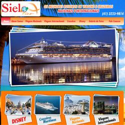 site comercial de agência de viagens