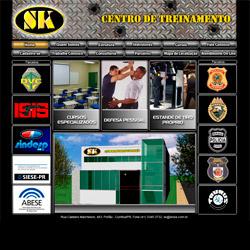 site institucional com cadastro através do site