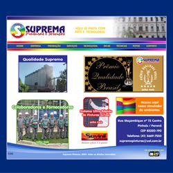 Site institucional, com galeria de imagens e videos