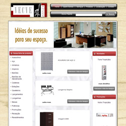 site comercial, com lista de desejos de produtos