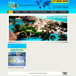 site institucional, com reserva on-line